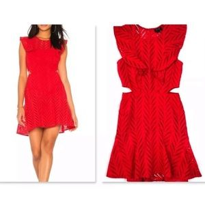 NWOT Bardot Kira Holiday eyelet crochet dress